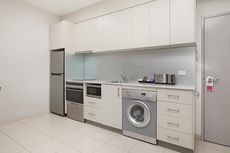 Self contained kitchen in Darwin hotel