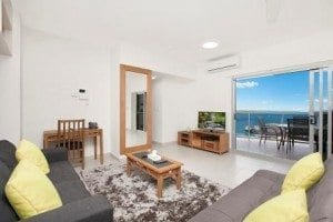 Darwin Hotel Accommodation Two Bed Apartment Living area