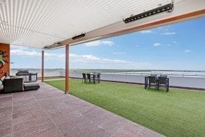 Harbour view rooftop entertainment deck Darwin
