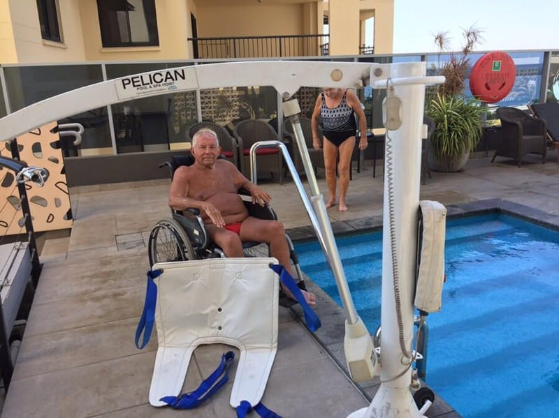 Pool Hoist Darwin Hotel Disabled
